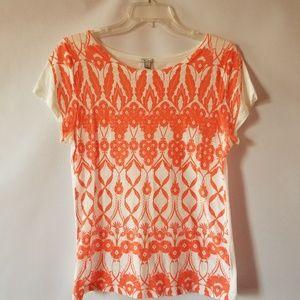 J. Crew floral print cotton tee shirt size medium.